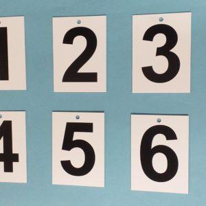 Set of Twelve End of Rink Numbers
