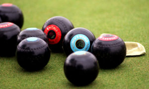 A group of lawn bowls