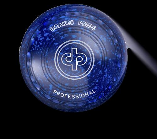 Drakes Pride Professional Bowl - Blue / Blue - 24 Dimple Grip