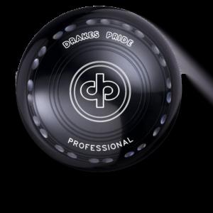 Drakes Pride Professional Bowl - Black - 24 Dimple Grip