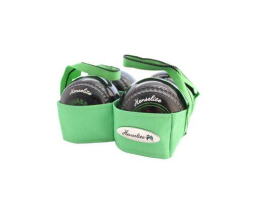 Henselite 4 Bowl Carrier Lime Green