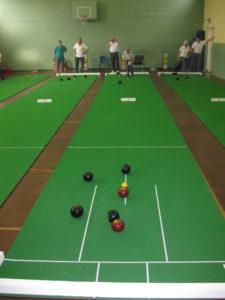Short mat bowls mat setup