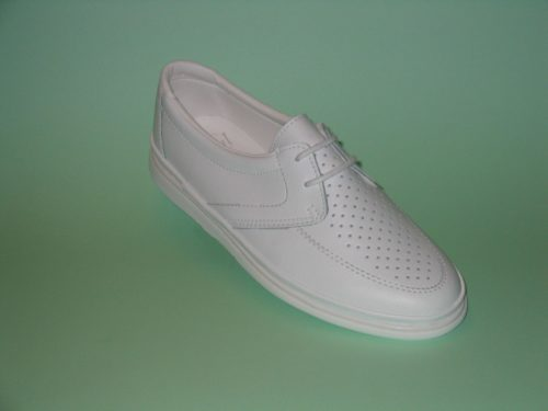 Royal Larne Ladies White Bowls Shoe